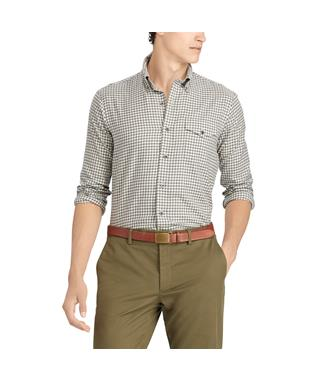CLASSIC FIT PLAID TWILL SHIRT GREY