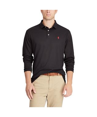LONG SLEEVE SOFT TOUCH POLO BLACK
