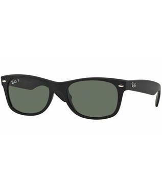 NEW WAYFARER - BLACK RUBBER/GREEN MIRROR