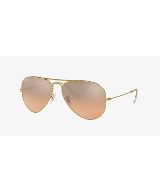 AVIATOR - GOLD/PINK SILVER MIRROR