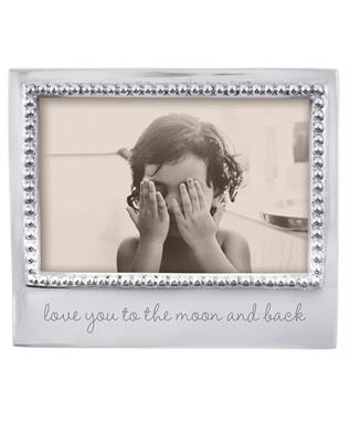 LOVE YOU TO THE MOON AND BACK BEADED 4X6 FRAME N/A