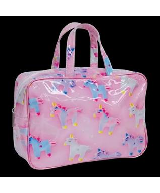 UNICORN AND STARS LARGE COSMETIC BAG MULTI