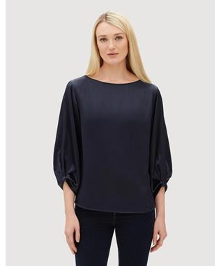 LUXE CHARMEUSE WYNONA BLOUSE  INK-479