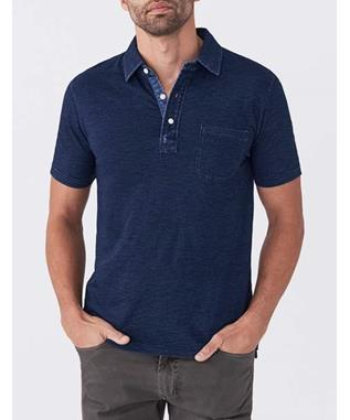 SS INDIGO POLO DARK WASH