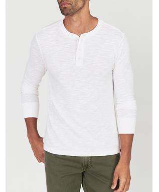 SLUB COTTON HENLEY WHITE