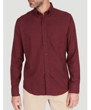 MELANGE OXFORD SHIRT BURGUNDY