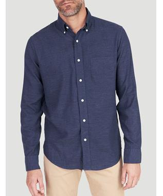 MELANGE OXFORD SHIRT NAVY