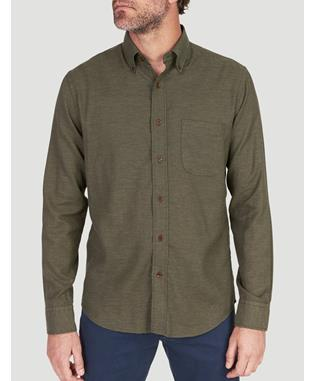 MELANGE OXFORD SHIRT SPRUCE