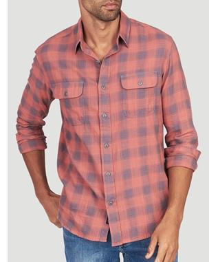BELMAR SHIRT DUSTY RED BUFFALO