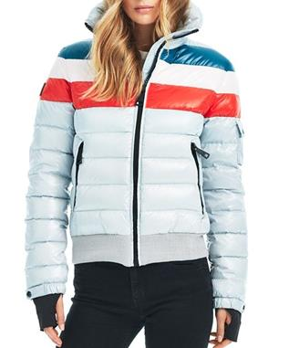 STARBURST BOMBER STRIPE JACKET MARSHMALLOW
