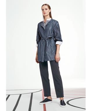 Empirical Tech Cloth Stephania Jacket  PORT BLUE IRIDESCENT-502