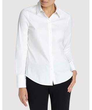 Italian Stretch Cotton Linley Blouse WHITE