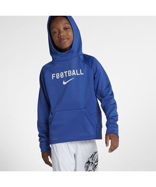 BOYS DRI-FIT THERMA TRAINING PULLOVER HOODIE 480-GAME ROYAL