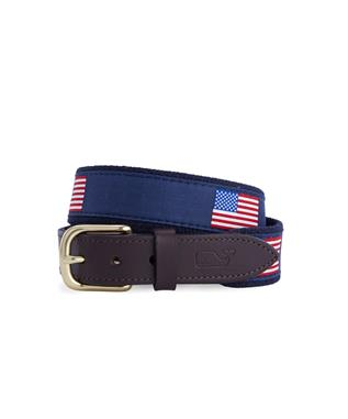 AMERICAN FLAG BELT NAVY
