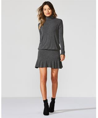 ANASTASIA SWEATER DRESS ANTHRACITA