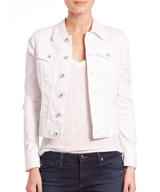 WOMENS ROBYN DENIM JACKET TRUE WHITE