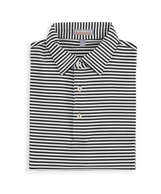 CROWN SPORT COMPETITION STRIPE PERFORMANCE POLO MIDNIGHT