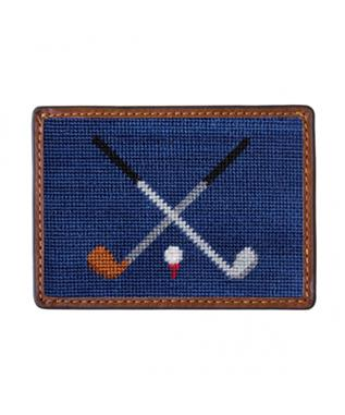 CROSSED CLUBS CREDIT CARD WALLET