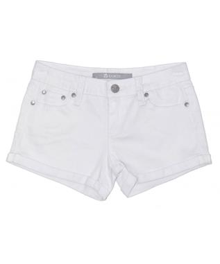 GIRLS COLOR DENIM SHORT WHITE
