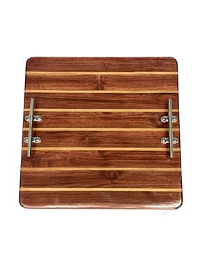 Classic 16 X 16 TEAK AND HOLLY BOARD NATURAL