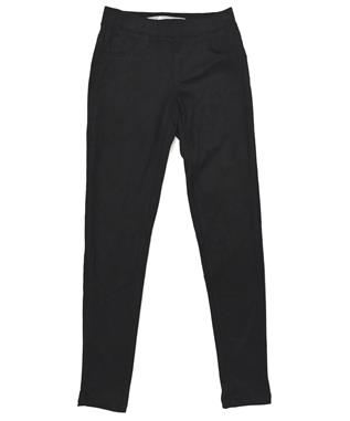 GIRLS PULL ON LEGGING PONTE PANT BLACK