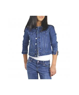 GIRLS BASIC SLIM DENIM JACKET INDIGO