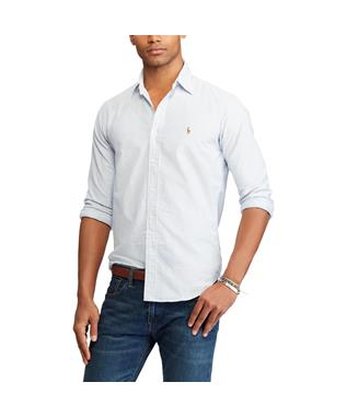 CLASSIC FIT STRIPPED OXFORD SHIRT BLUE/WHITE