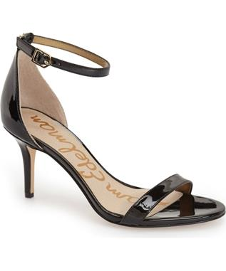 PATTI- OPEN TOE ANKLE STRAP BLACK PATENT