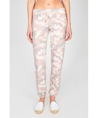 LOVE IS A BATTLE BANDED PANT OATMEAL