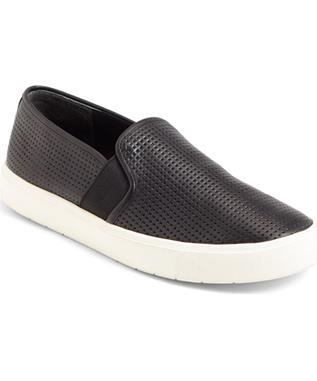 BLAIR 5 PERFORATED SLIP ON SNEAKER BLACK-001