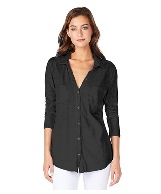 JERSEY BUTTON DOWN BLACK