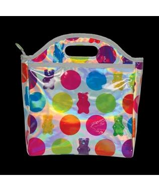GUMMY BEARS HOLOGRAPHIC LUNCH TOTE MULTI