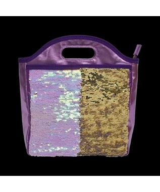 IRIDESCENT REVERSIBLE SEQUIN LUNCH TOTE MULTI