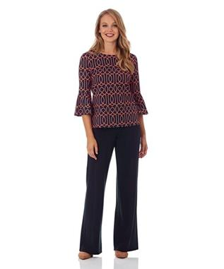 TRIXIE PONTE WIDE LEG PANT DARK NAVY