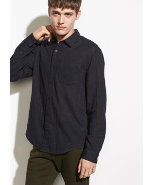 SOLID DOUBLE FACE LONG SLEEVE 008 H BLACK