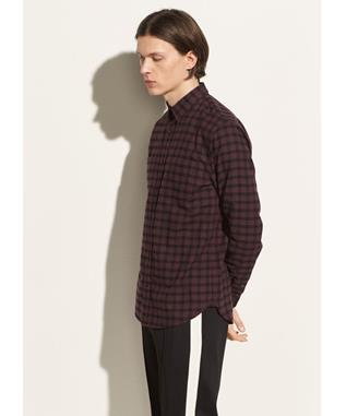 GINGHAM PLAID LONG SLEEVE 622 MULBERRY