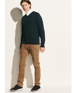 ELBOW PATCH V-NECK 313 HUNTER GREEN
