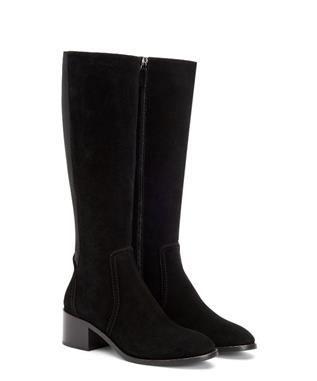 JORDAN SUEDE TALL BOOT BLACK