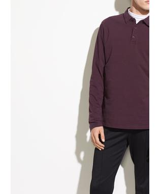 GARMENT DYE LONG SLEEVE POLO 622 MULBERRY