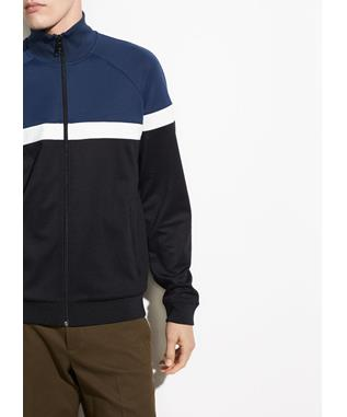 COLOR BLOCK TRACK JACKET 982 PRUSSIAN BLUE