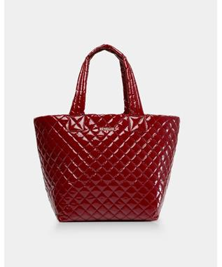 MEDIUM METRO TOTE CRANBERRY LACQUER