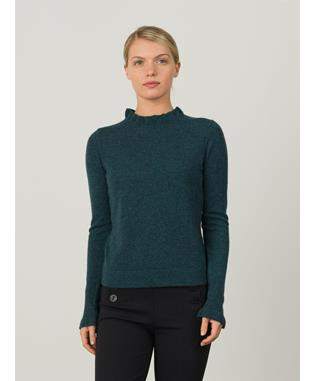 RUFFLE MOCK SWEATER NORI