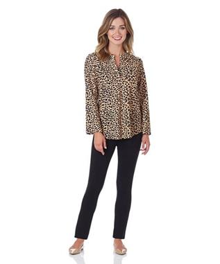JOSIE TUNIC TOP IN CHEETAH CAMEL CHEETAH CAMEL