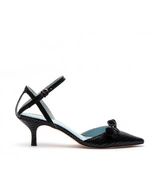 ALISTER POINTED TOE SNAKE PUMP BLACK