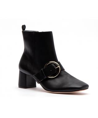 CASSIE LEATHER ANKLE BOOTIE BLACK