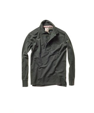 PIQUE SLOT-BUTTON POLO 303 FOREST HEATHER