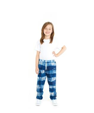 KIDS NIKI TIE DYE SWEAT PANT INDIGO