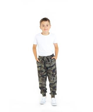 KIDS RILEY RELAXED JOGGER GREEN CAMO