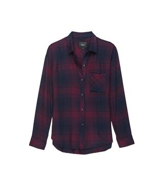 HUNTER PLAID SHIRT CURRANT NAVY