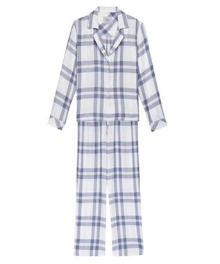 SLEEP TROUSER SET WHITE /CHAMBRAY/ PETAL